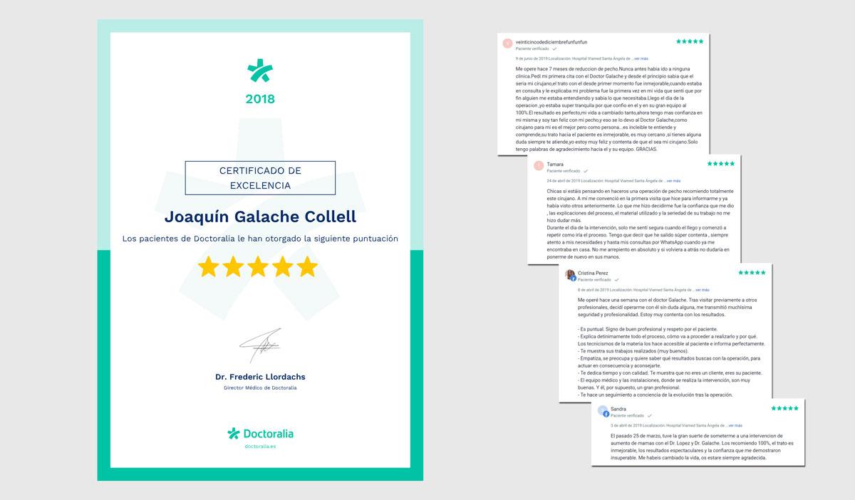 Certificado excelencia doctoralia doctor joaquin galache