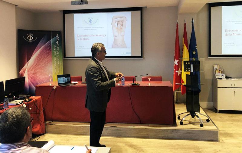 Ponencia del Dr Sicilia en master reconstrucción de mama